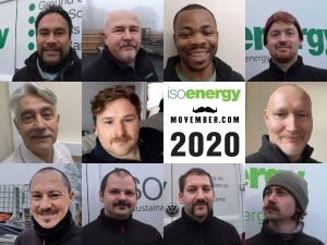 isoenergy staff do Movember raising £215 for charity